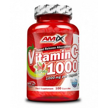 VITAMIN C WITH ROSEHIPS 100 cps (AMIX)