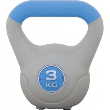 KETTLEBELL ΜΕ ΕΠΕΝΔΥΣΗ ΒΙΝΥΛΙΟΥ 3 kg ΜΠΛΕ 84694 (AMILA)