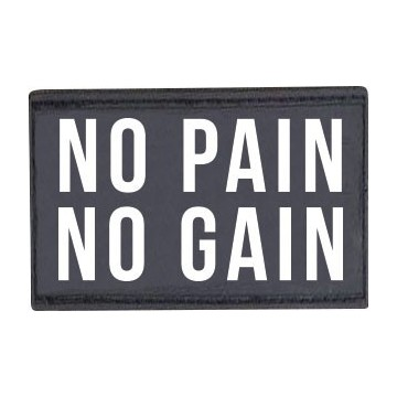 PATCH NO PAIN NO GAIN 7113 ΜΑΥΡΟ (H&S)