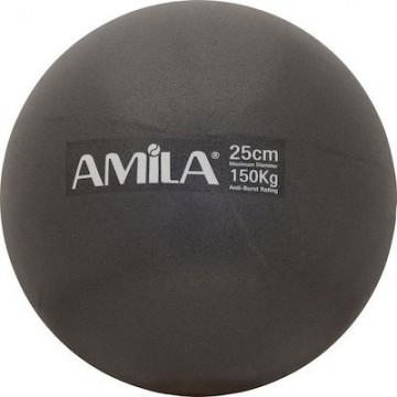ΜΠΑΛΑ PILATES 25cm 95816 ΜΑΥΡΗ (AMILA)
