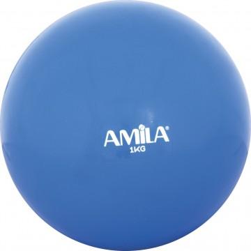 ΜΠΑΛΑ ΓΥΜΝΑΣΤΙΚΗΣ TONING 1kg 84701 ΜΠΛΕ (AMILA)