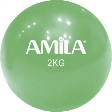 ΜΠΑΛΑ ΓΥΜΝΑΣΤΙΚΗΣ TONING 2kg 84708 ΠΡΑΣΙΝΟ (AMILA)