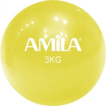 ΜΠΑΛΑ ΓΥΜΝΑΣΤΙΚΗΣ TONING 3kg 84709 ΚΙΤΡΙΝΟ (AMILA)
