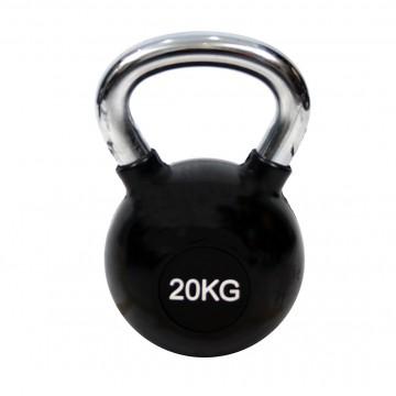 KETTLEBELL ΧΡΩΜΙΟΥ 20kg ΜΕ ΛΑΣΤΙΧΟ 7151-20 (H&S)