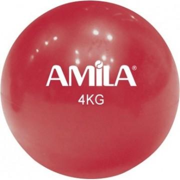 ΜΠΑΛΑ ΓΥΜΝΑΣΤΙΚΗΣ TONING 4kg 84710 ΚΟΚΚΙΝΟ (AMILA)