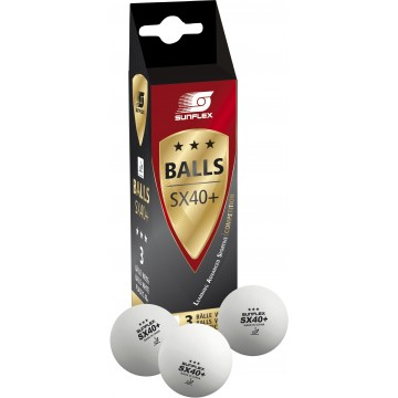 ΜΠΑΛΑΚΙΑ ΠΙΝΓΚ-ΠΟΝΓΚ SX40+ COMPETITION PVC 3τεμ. 97253 (SUNFLEX)