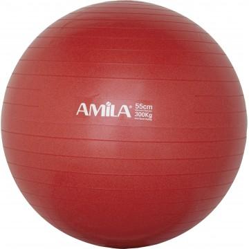 ΜΠΑΛΑ ΓΥΜΝΑΣΤΙΚΗΣ GYMBALL 55cm ΚΟΚΚΙΝΗ 95828 (AMILA)