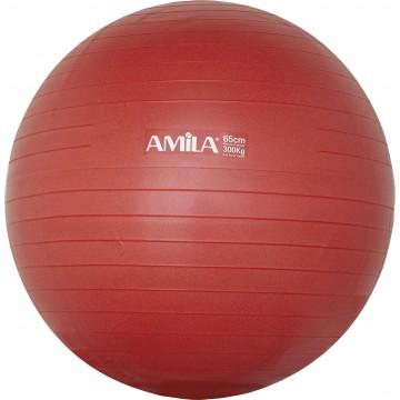 ΜΠΑΛΑ ΓΥΜΝΑΣΤΙΚΗΣ GYMBALL 65cm ΚΟΚΚΙΝΗ 95846 (AMILA)