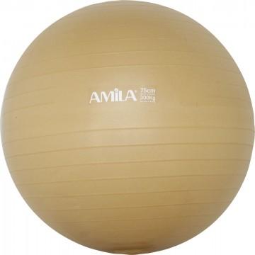 ΜΠΑΛΑ ΓΥΜΝΑΣΤΙΚΗΣ GYMBALL BULK 75cm ΧΡΥΣΗ 48415 (AMILA)