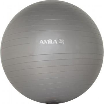 ΜΠΑΛΑ ΓΥΜΝΑΣΤΙΚΗΣ GYMBALL 75cm ΓΚΡΙ 95867 (AMILA)